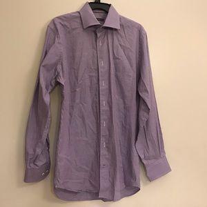 Peter Millar Long Sleeve Button Up Mens M Purple